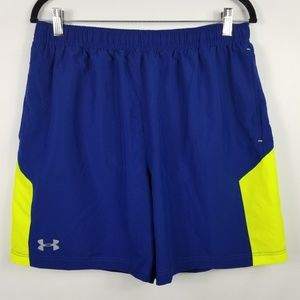 Under Armour Heat Gear Swim Trunks Shorts Mens LG